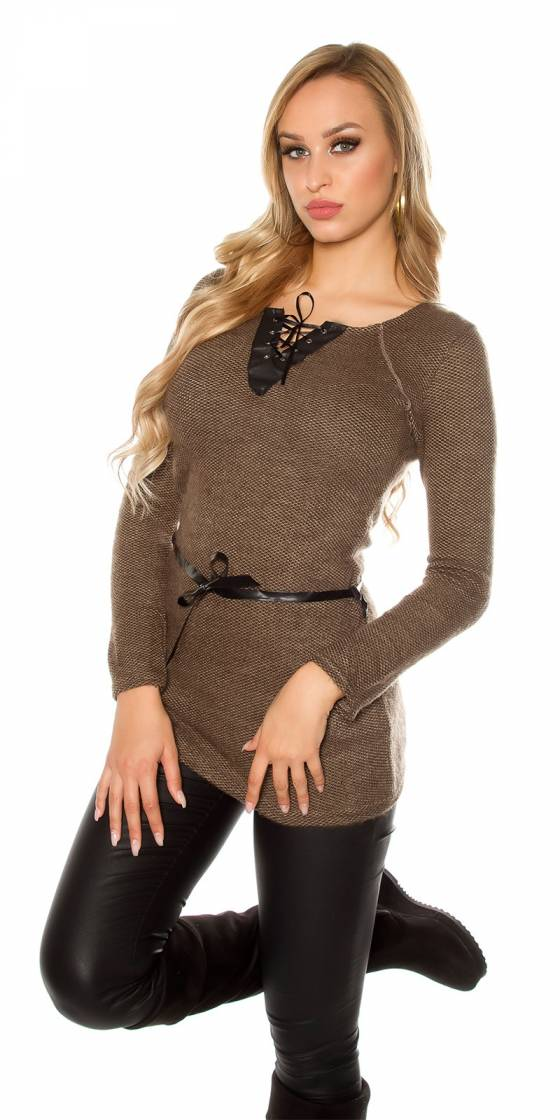 Robe femme sexy tendance fashion LYA couleur cappuccino