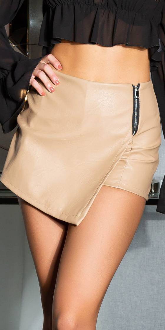 Sexy Faux Leather Skorts...