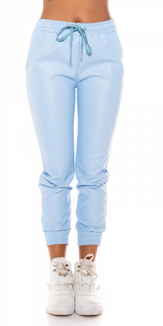 Trendy Faux Leather Jogger...