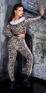 Ensemble de 2 pièces fashion avec imprimé léopard