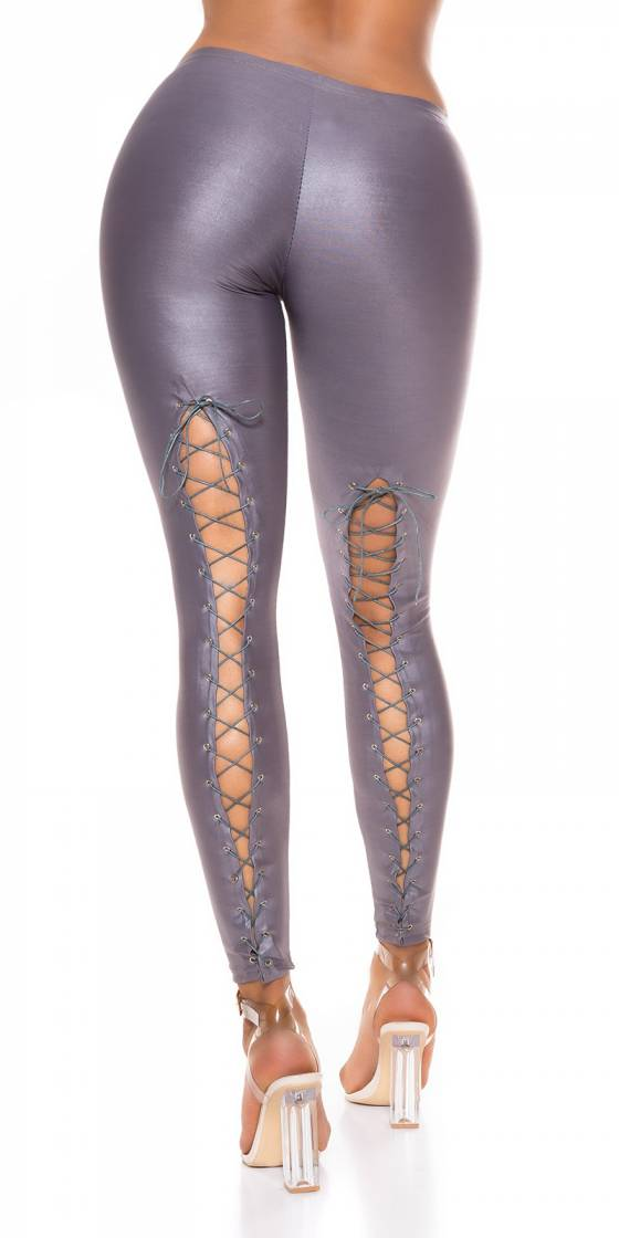 Sexy Wetlook Leggings mit...