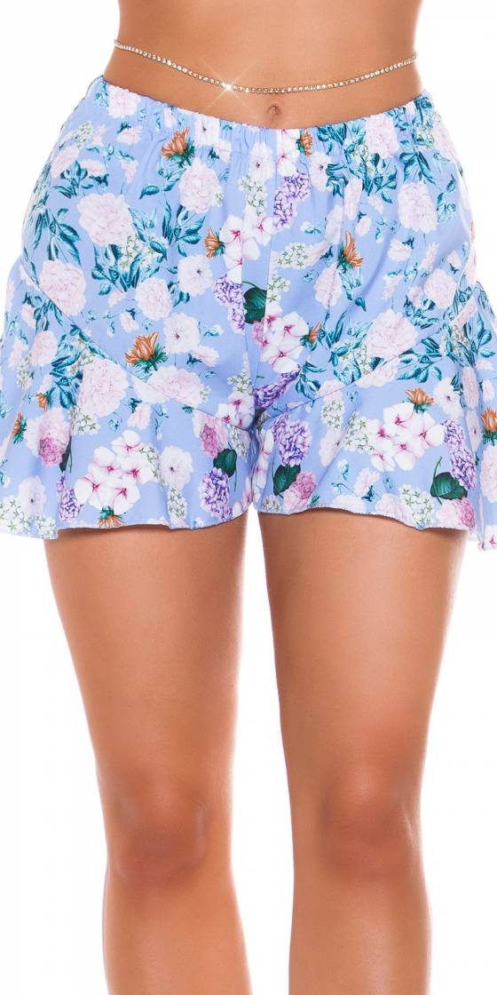 Sexy Ruffled Floral Shorts
