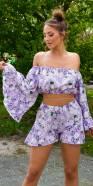Sexy Ruffled Floral Shorts