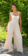 Sexy wide Leg Jumpsuit with Belt
