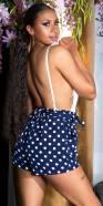 Sexy Polka Dot Summer Shorts with Pockets