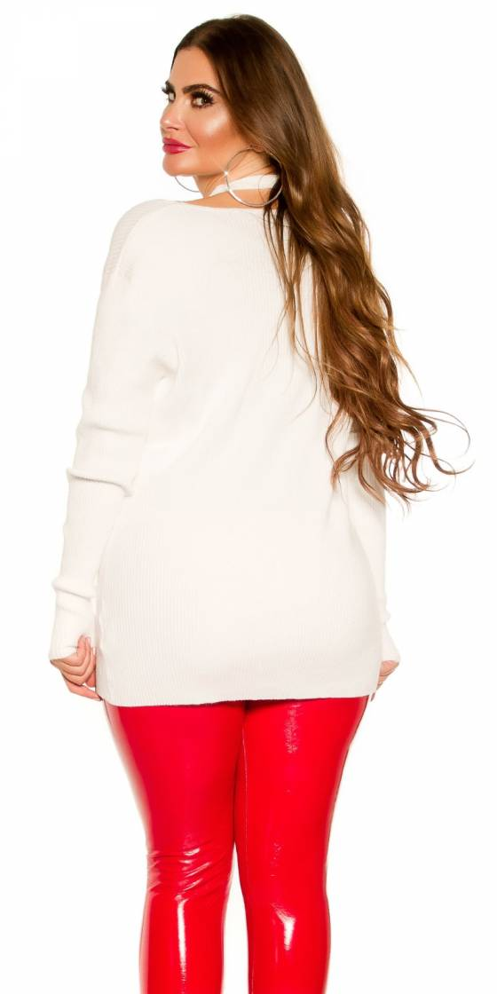 Pull tendance col rond