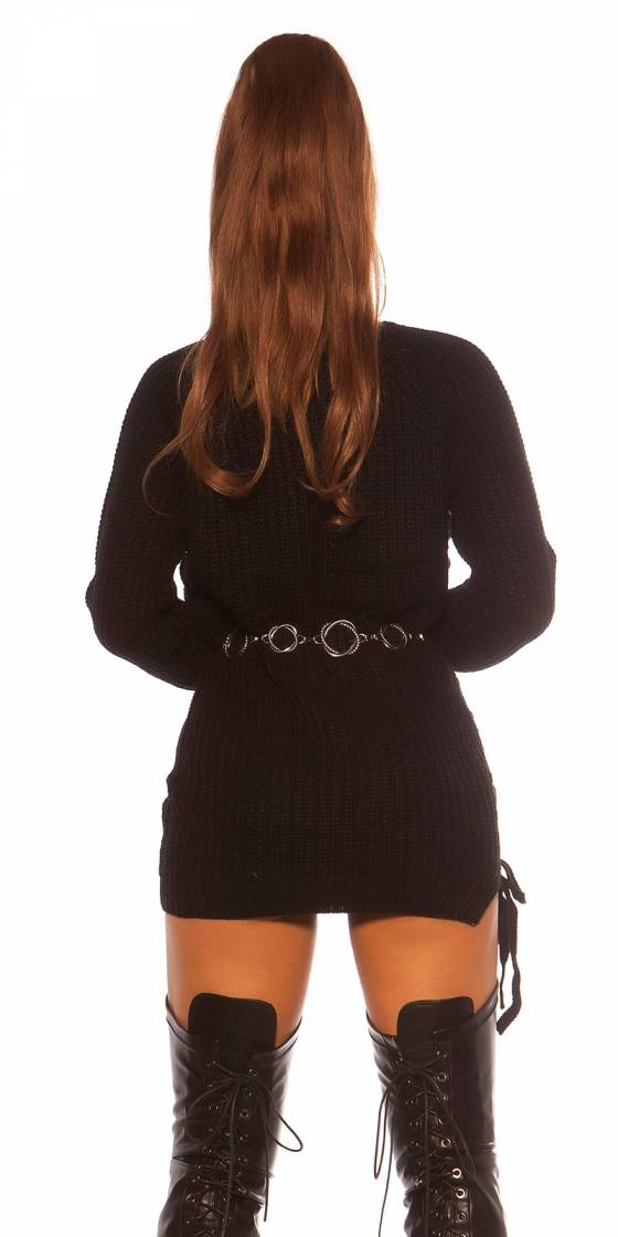 Robe pull en maille sexy...