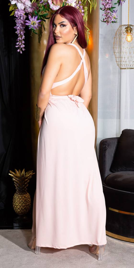 Sexy Two-Slit Backless Maxi...