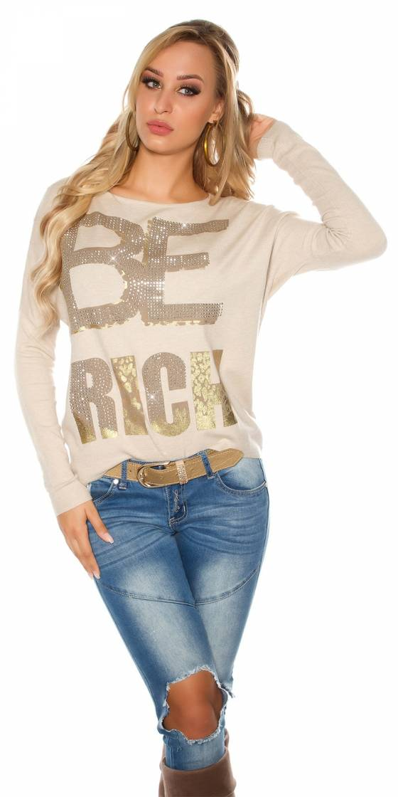 "Pull tendance ""BE RICH"""