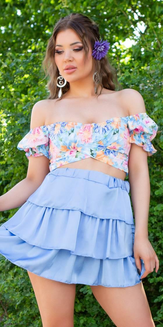 Mini-jupe fashion en satin...