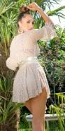 Combinaison tendance en dentelle de style bohème avec jupe