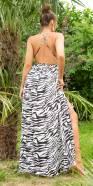 Sexy Koucla Silk-Look Backless Maxidress