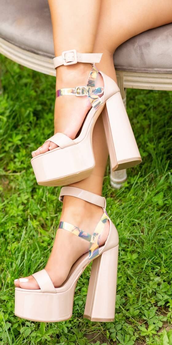 Sexy platform shoes with...