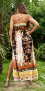 Sexy Luxury Silk-Look Strap Kleid with Slit