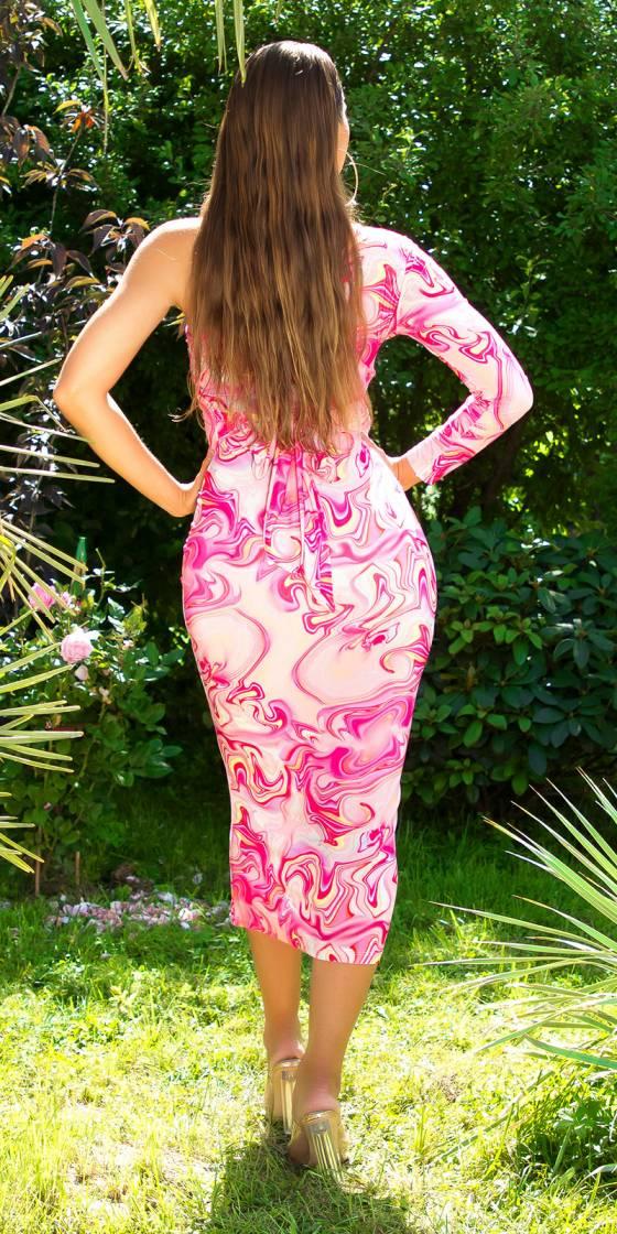 Sexy One-Shoulder Midi Dress