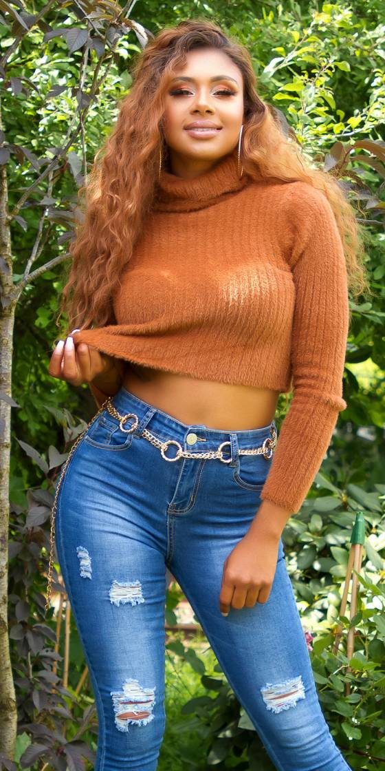 Jeans skinny taille haute...