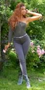 Pantalon basique tendance taille haute Push Up