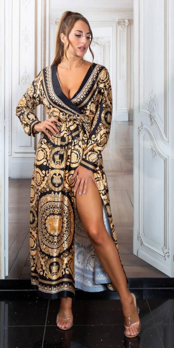 Robe longue fashion en soie...