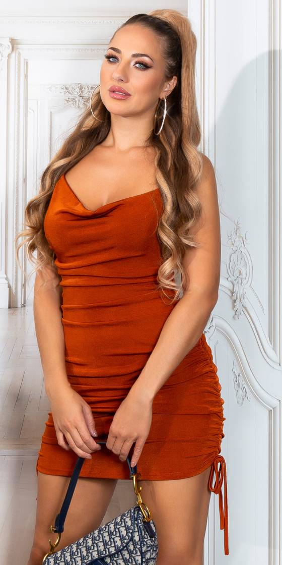 Sexy Ruffled Mini Strap Dress