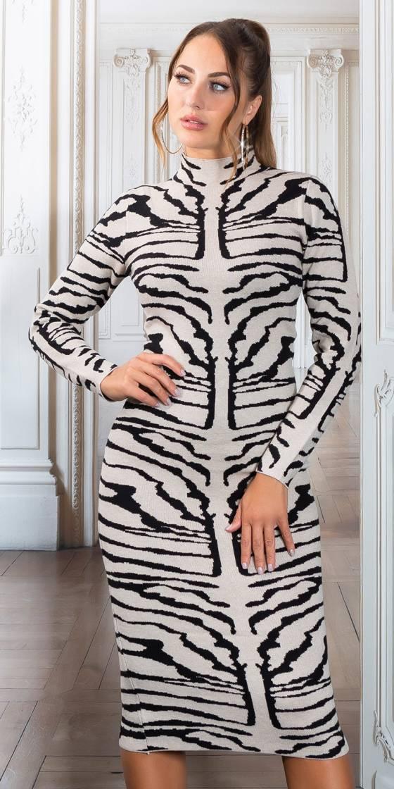 Sexy Midi Knit Dress with...
