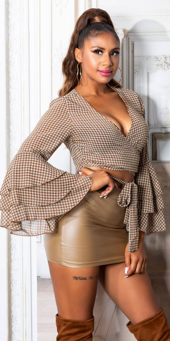 Sexy Cropped Blouse to tie...
