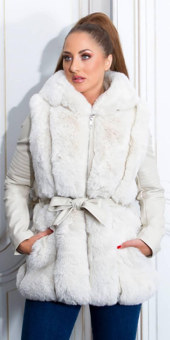 Manteau fashion en simili...