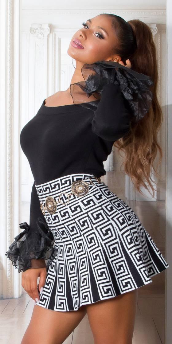 Sexy Highwaist Knit Skirt...