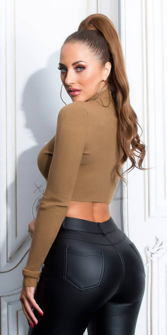Sexy Long sleeve Crop...
