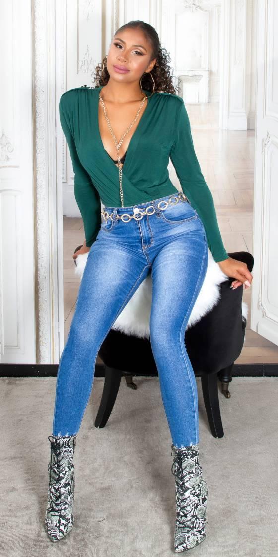 Crop top fashion nouvelle collection AWENA couleur noir