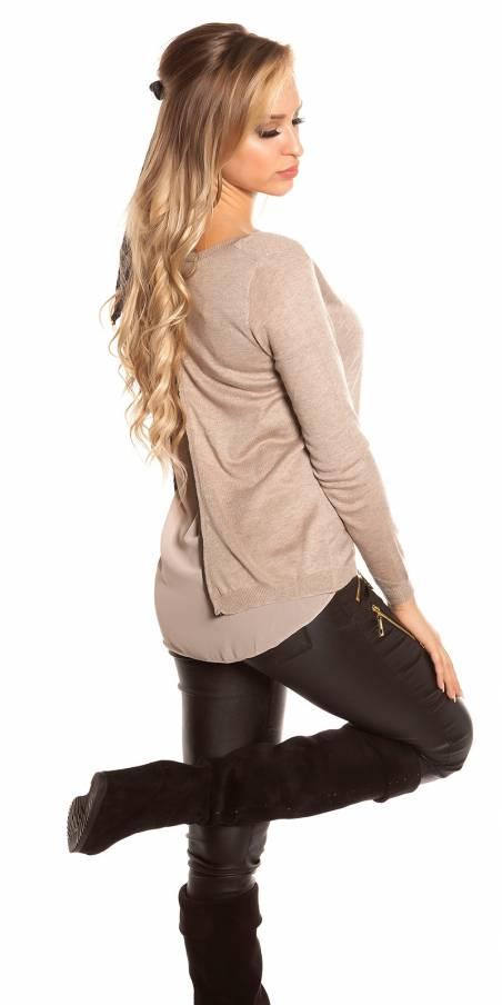Pantalon look fashion tendance couleur noir