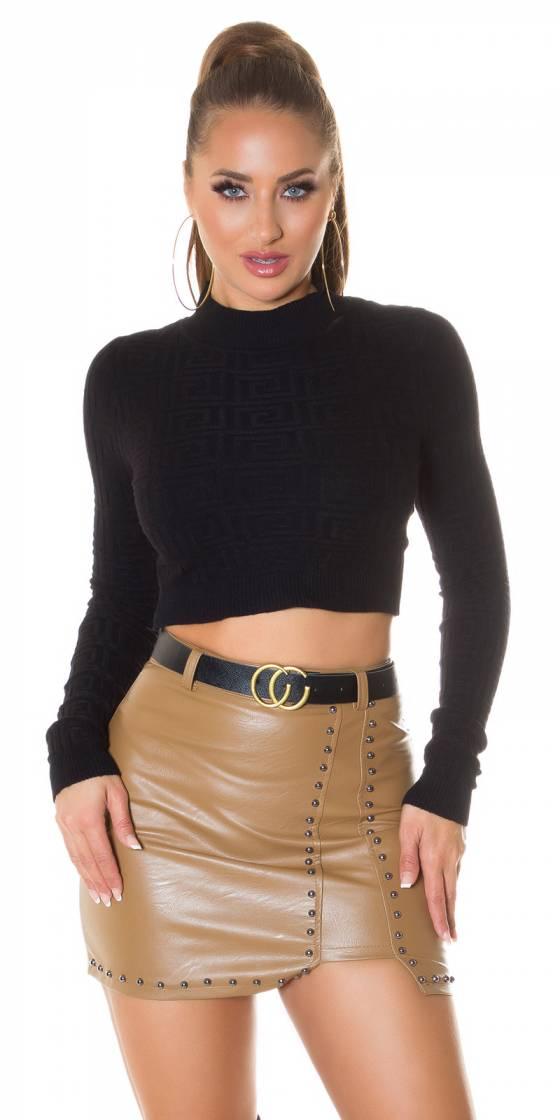 Top fashion LAURENA couleur noir