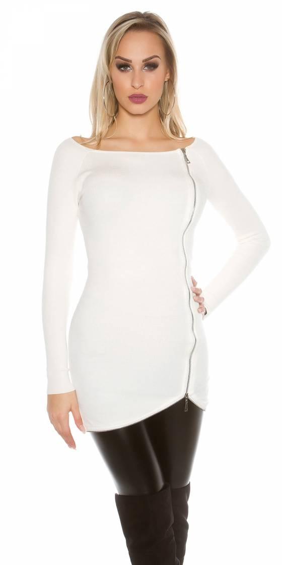 Robe tendance fashion look 2in1 CARLA couleur corail