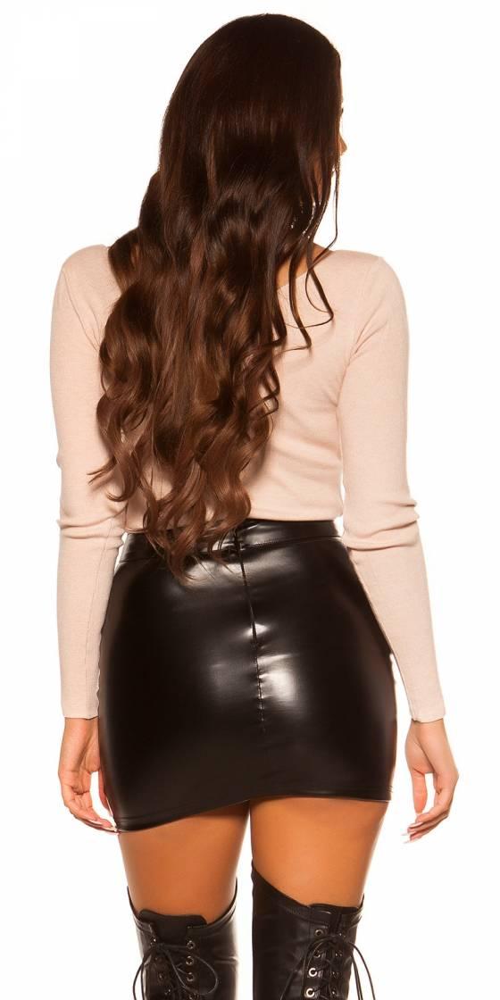 Short tendance fashion LAURA avec ceinture couleur beige