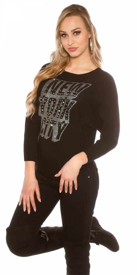 Chemise femme NEW COLLECTION couleur noir avec ceinture
