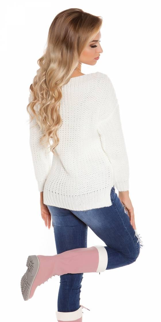 Pantacourt sexy fashion LEILA couleur blanc avec ceinture