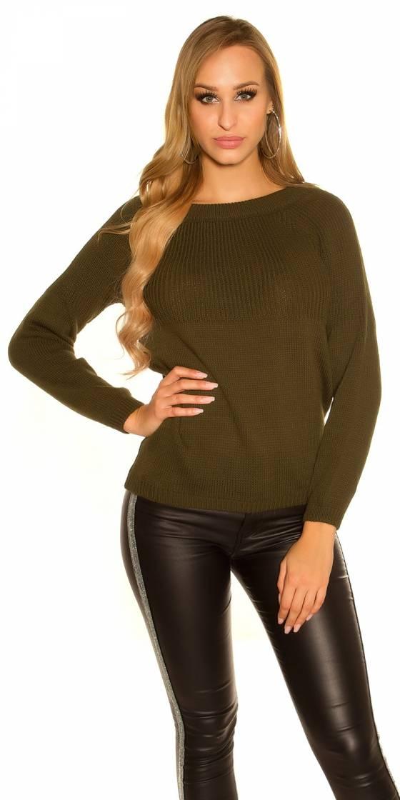 Trendy KouCla knit sweater...