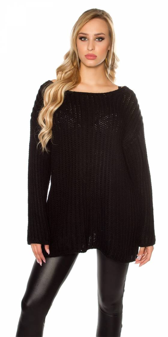 Trendy XXL loose knit...
