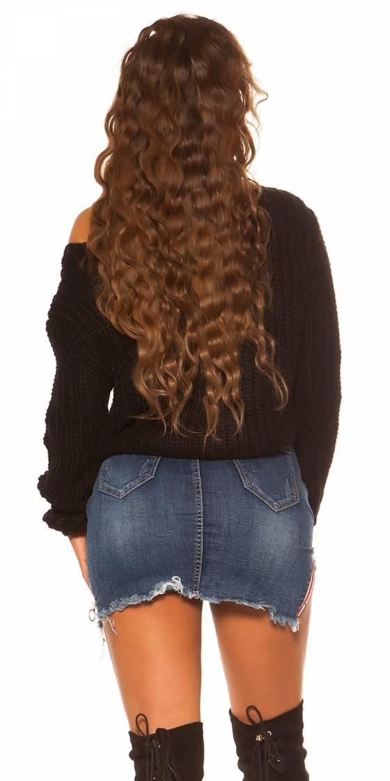 Sexy KouCla Crop knit pullover