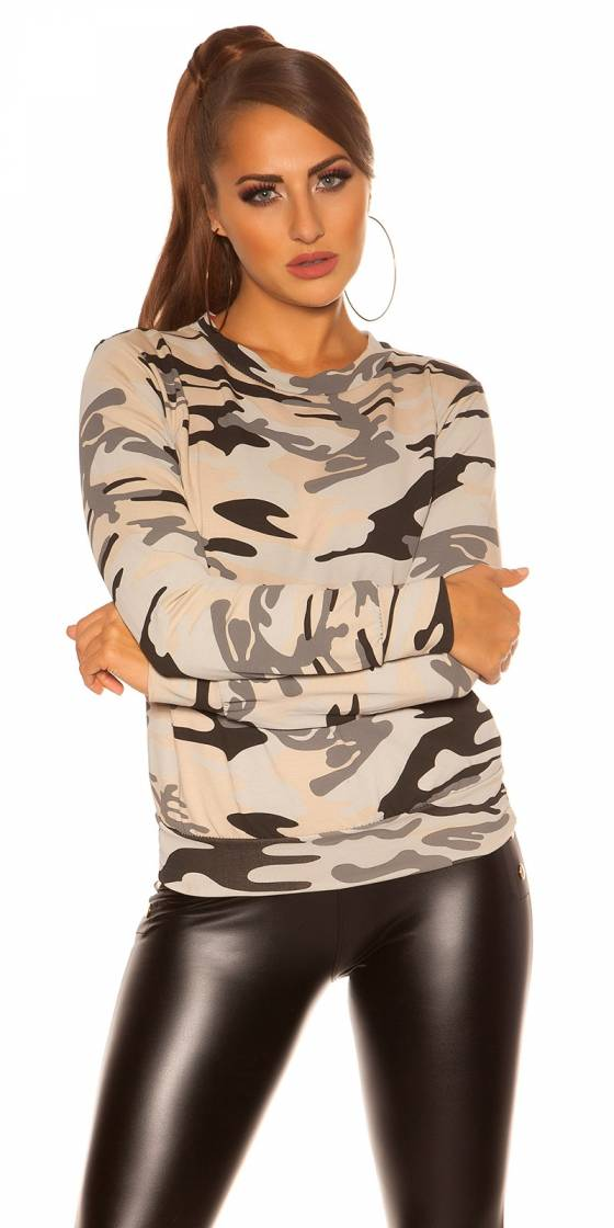 Sweat sexy look militaire
