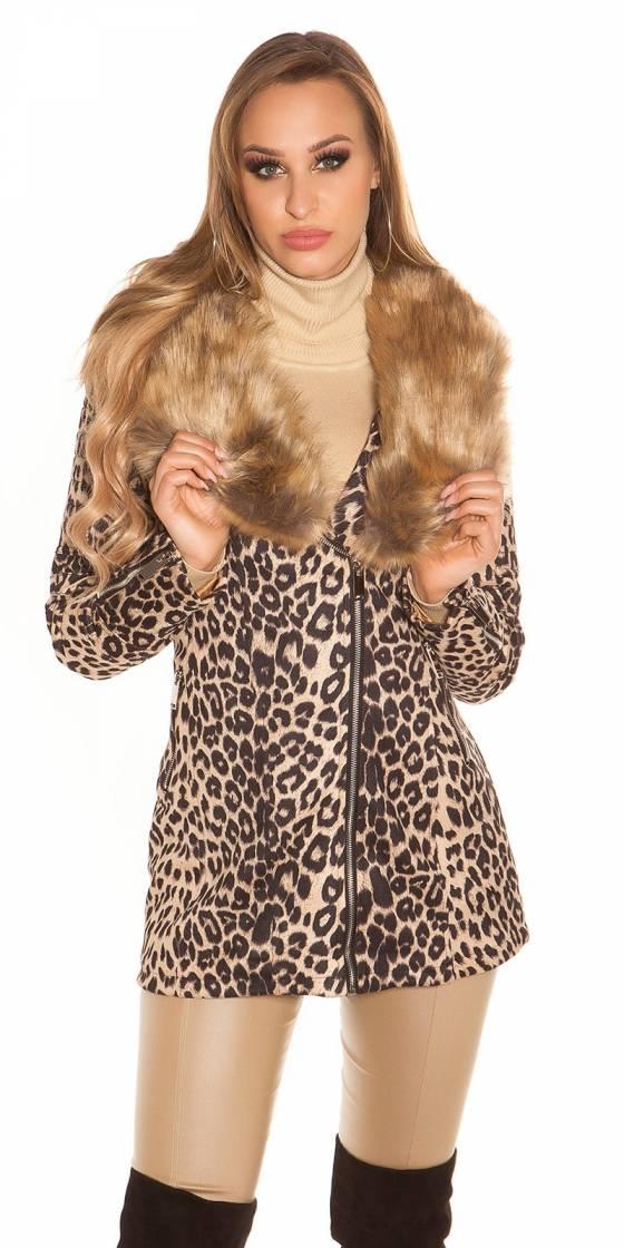 Trendy coat Animal Print...