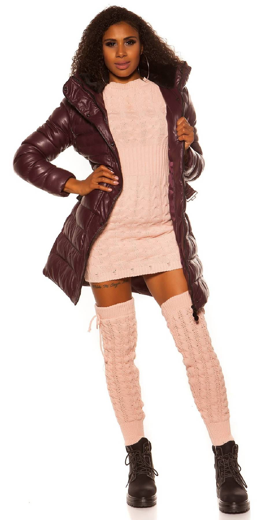Vêtement femme robe sexy gogo ALDONA couleur fushia
