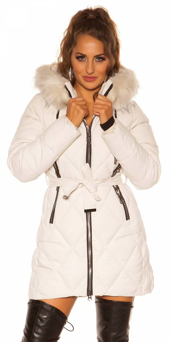 Sexy winter jacket w. belt,...