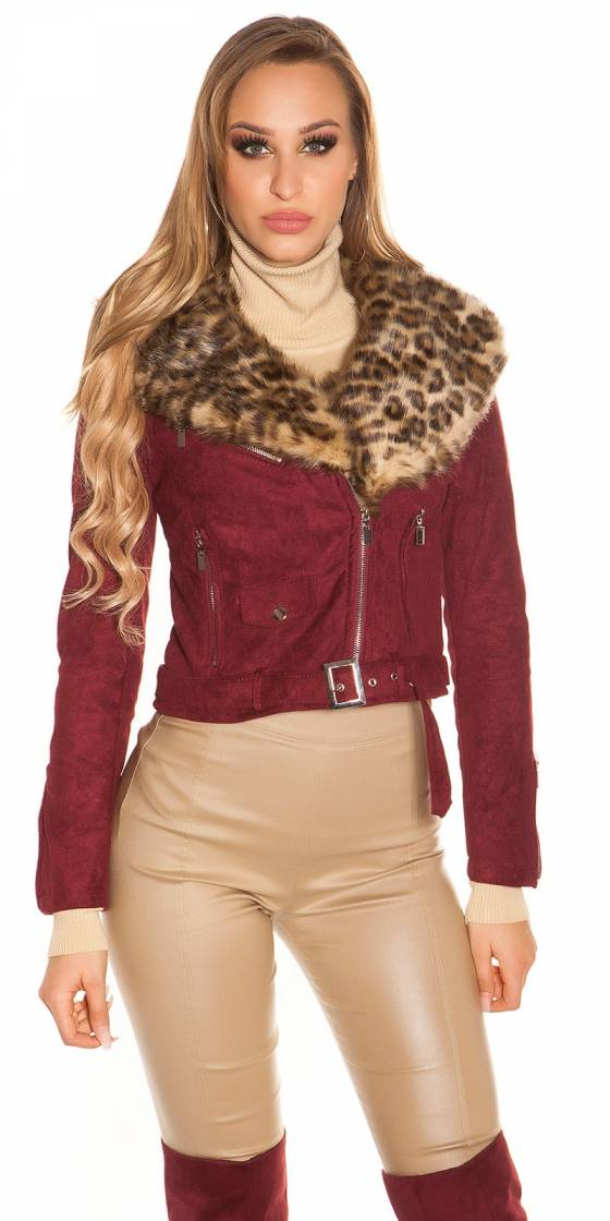 Trendy biker look jacket...