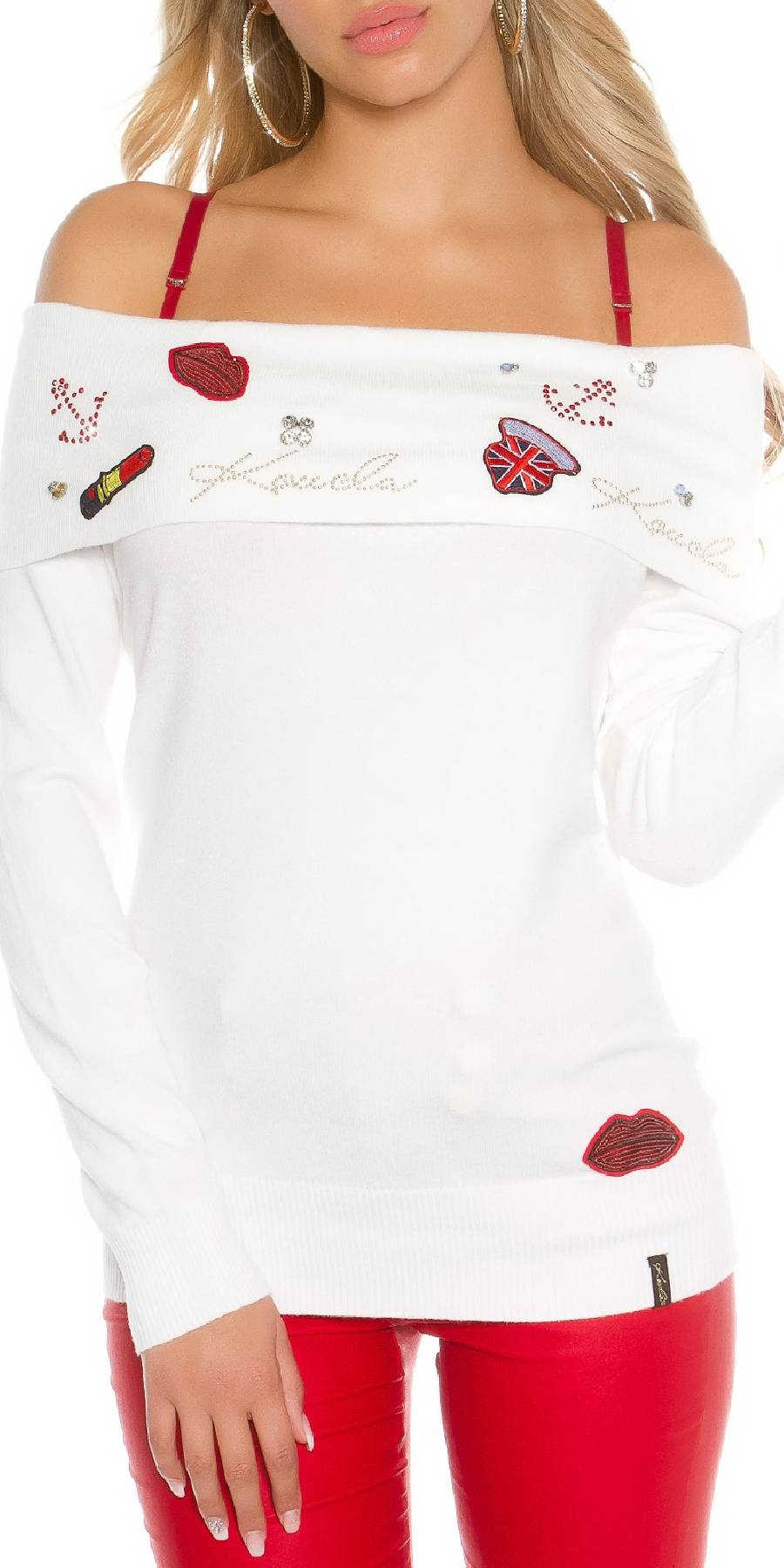 Pull femme sexy fashion EMMA couleur cappuccino