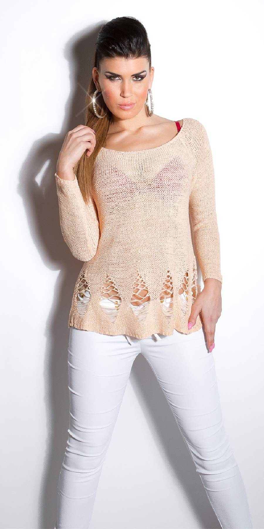 Pull femme sexy fashion EMMA couleur gris