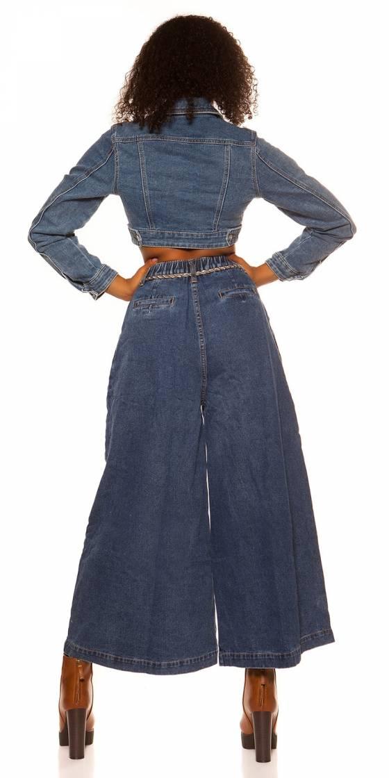 Trendy short denim jacket