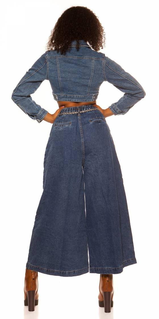 Veste courte en jeans tendance