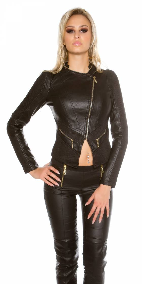 Sexy leather look jacket...