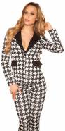 Sexy blazer in houndstooth pattern