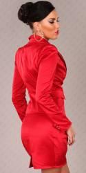 Robe new tendance avec ceinture DONA couleur rouge
